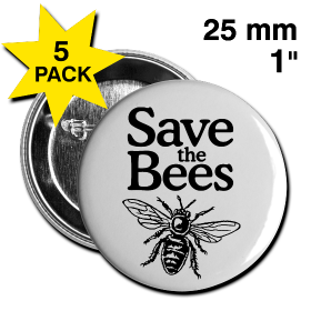 SAVE THE BEES BUTTONS