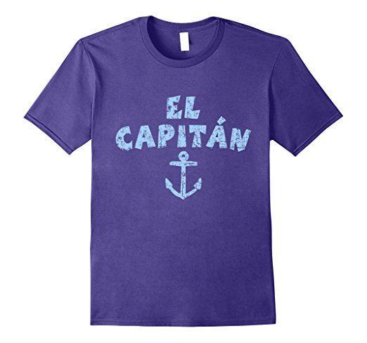 El Capitan Anchor T-Shirts Vintage Blue