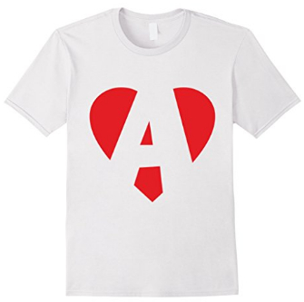 I love A - Heart A T-Shirts