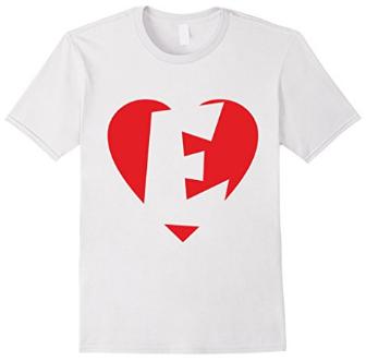 I love E - Heart with letter E T-Shirts