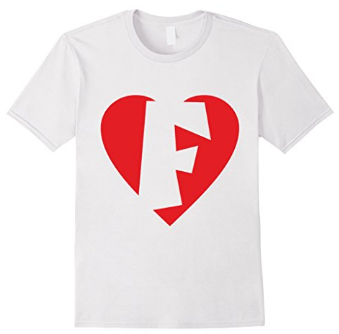 I love F - Heart with letter F T-Shirts