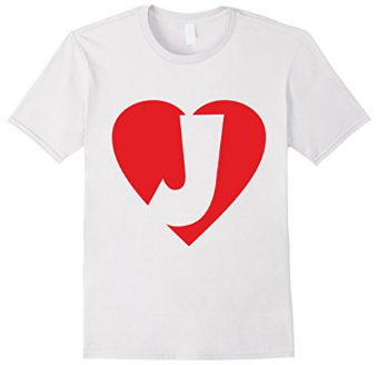 I love J - Heart with Letter J T-Shirts