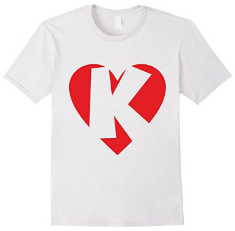 I love K - Heart with Letter K T-Shirts
