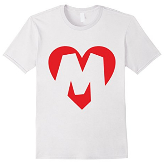 I love M - Heart with LetterM T-Shirts