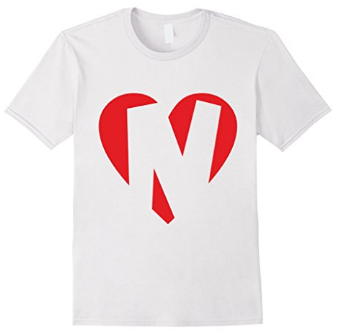 I love N - Heart with Letter N T-Shirts