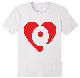 I love Q - Heart with Letter Q T-Shirts