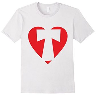 I love T - Heart with Letter T T-Shirts