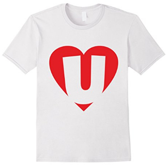 I love U - Heart with Letter U T-Shirts