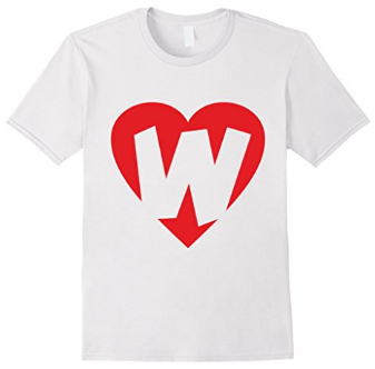I love W - Heart with Letter W T-Shirts