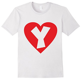 I love Y - Heart with Letter Y T-Shirts