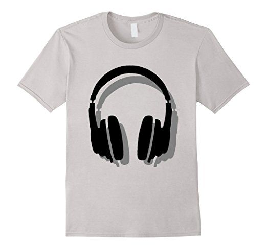 Headphone dj t-shirts Black Shadow