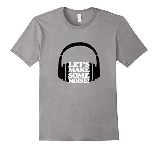 Lets make some noise headphone t-shirts white