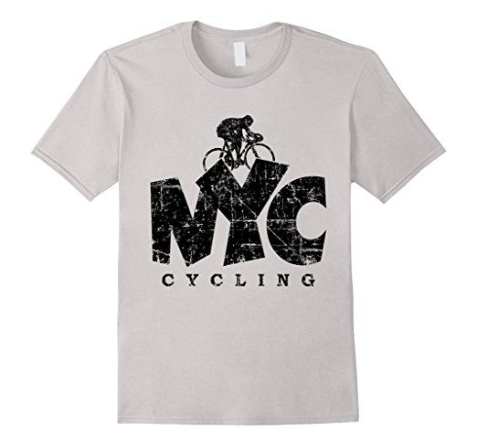 NYC CyclingT-Shirts Distressed Black