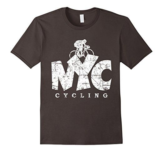 NYC CyclingT-Shirts Distressed White
