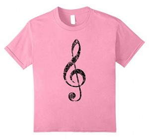 Treble Clef T-Shirts Vintage Black