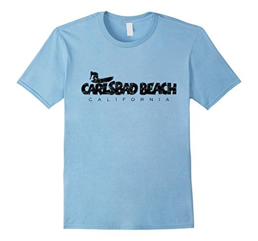 Carlsbad Beach California surf t-shirts black