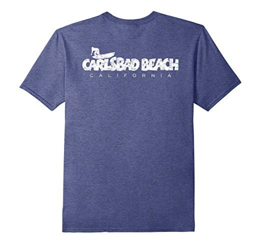 Carlsbad Beach California surf t-shirts white