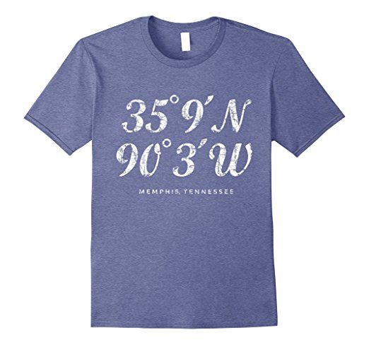 Memphis Tennessee Coordinates T-Shirts White