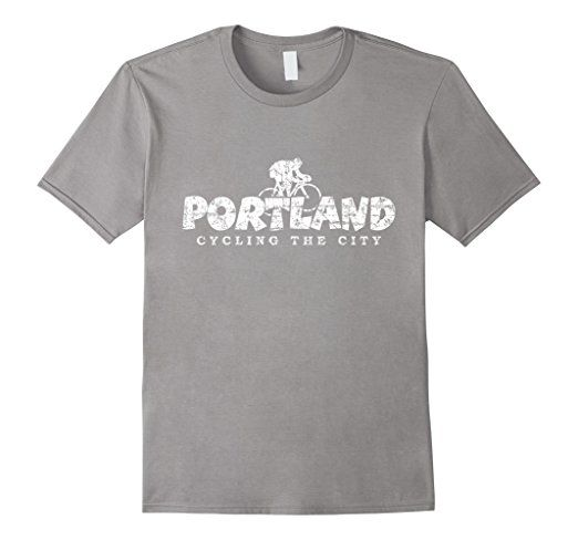 Portland Cycling the City T-Shirts White