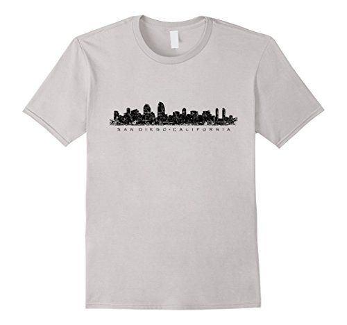San Diego California Skyline T-Shirts