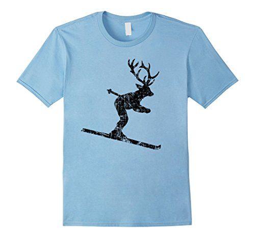 Ski Stag T-Shirts Skier Deer