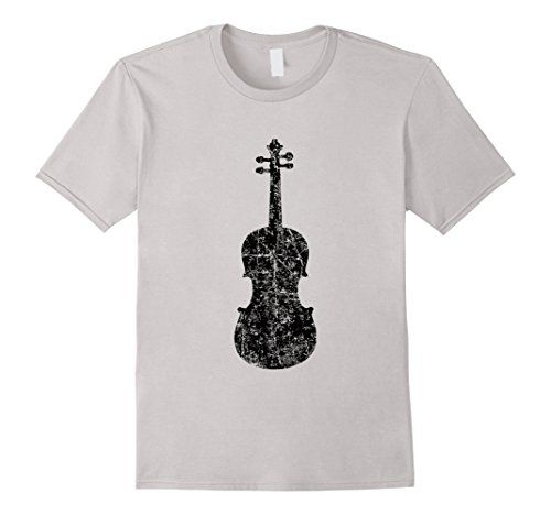 VIOLIN T-Shirts Distressed Black