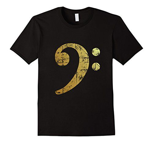 Bass Clef Gold T-Shirts Black