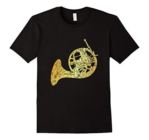 French Horn T-Shirts Ancient Gold