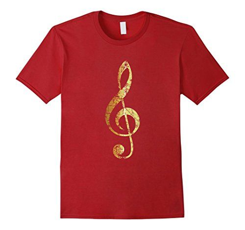 Treble Clef T-Shirts Ancient Gold